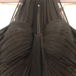 Black Halter Ball Gown Prom Bridesmaid Dress